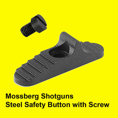 Mossberg 500/590/930  Enchaned STEEL Safety Button   includes mounting screw