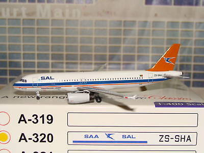 Aeroclassics SAL South African Airways A320 ZS-SHA 1/400 *Free S&H** D
