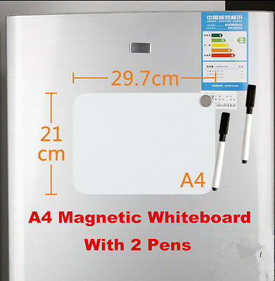 A4 Reminder Magnetic Fridge Whiteboard Home Office Memo Message Board With Pens