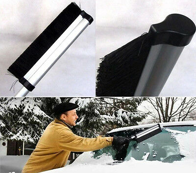 Retractable Car Ice Snow Deicing Shovel Scraper Removal Clean Tool With Brush