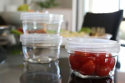 BRAND NEW ** SET OF 12 ** TWIST LOCK STACKABLE FOOD CONTAINERS ** 240ml