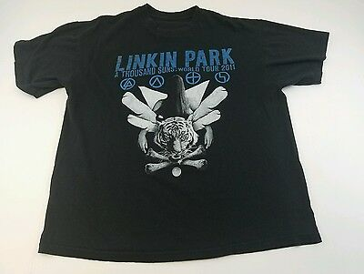 Linkin Park Concert T-shirt A Thousand Suns Tour 2011 Medium