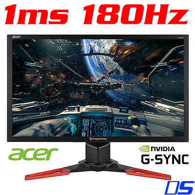 "Acer Predator XB241H 24"" Full HD G-SYNC 144Hz up to 180Hz 1ms LED Gaming Monitor"