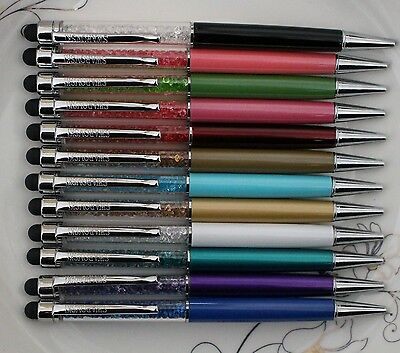 12PCS / LOT crystal element 2in1 universal touch pen pen touch screen