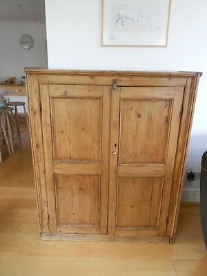 Victorian pine double cupboard