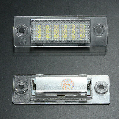 2 LED License Number Plate Light Canbus For VW Touran Golf Passat Jetta Caddy T5