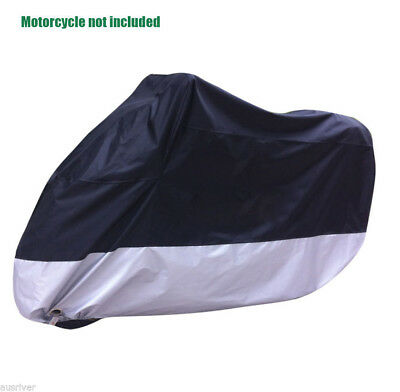 Waterproof Motorcycle Motorbike Cover Windproof Clips for Honda XL 230x95x125cm