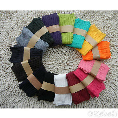 Boy/Girl Kids Baby Toddler Knee High Socks Stocking Cotton Leg Warm Leggings