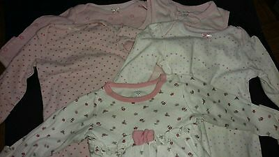 Lot 5 Baby Girl Newborn 0/3 Months Sleep Sack Night Gowns Clothes Pink Sleeper