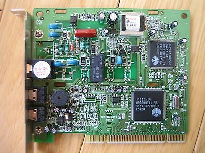 PCI 56K internal fax modem Rockwell chipset