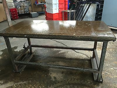 Heavy Duty Steel Bench - 5Cm Thick Top