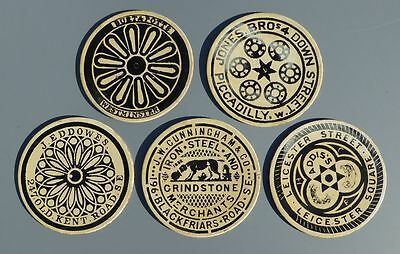 Vintage placemats 'brass rubbings' of Coal Hole Covers