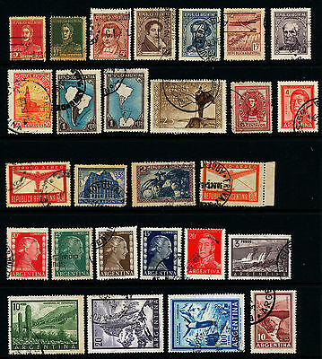 D803  Argentina Collection Of 27 Used Stamps