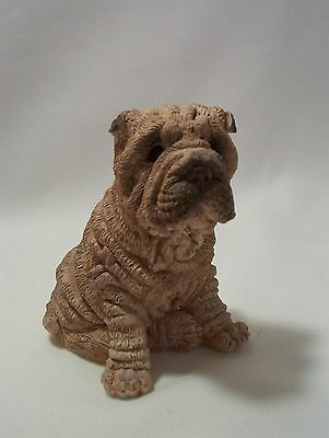 Shar Pei  Dog Figurine STONE CRITTERS Collection by United Design 1984