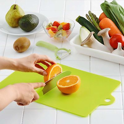 Rectangle Super Thin Flexible Plastic Index Chopping Board Cutting Slicing Mats