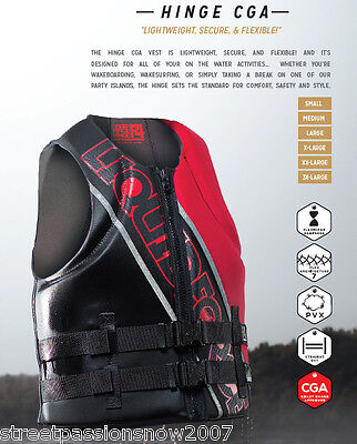 Wakeboard Liquid Force Life jacket Hinge Small black/red 2016