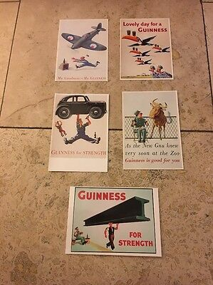 Collectable Guinness Postcards X 5