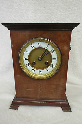 Antique French Mahogany Striking Clock For Spares Repair