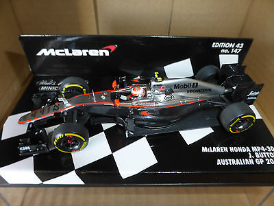 Minichamps 1:43 Jenson Button McLaren Honda MP4-30 # 22 Australian GP F1 2015