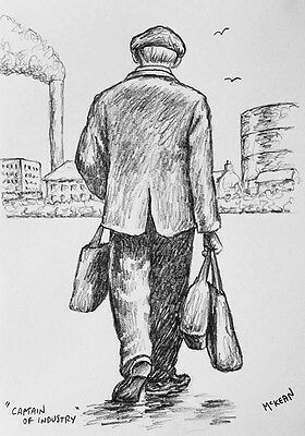 Graham McKean original pencil drawing directly from the artist's studio