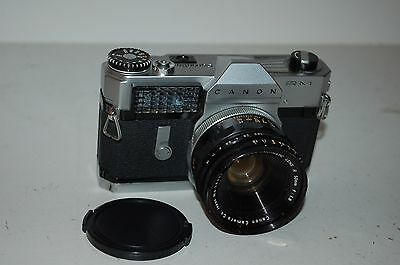 Canon RM Canonflex Vintage Japanese SLR Camera & Super-Canomatic Lens. Serviced.