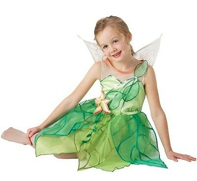 Girls Disney Tinkerbell Fairy Book Day Week Pixie Fancy Dress Costume Outfit