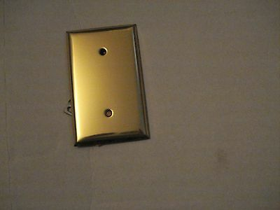 Solid Brass Blank Electrical Covers . 2.6 oz ea..