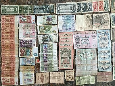 Russia 123 x Banknotes Various Dates Various Conditions