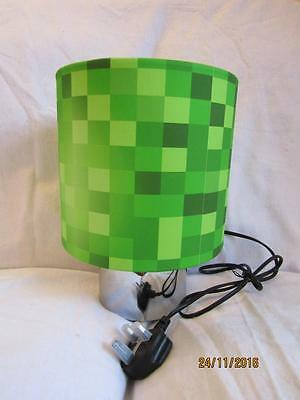 Pixels Touch Lamp Table Bedside Kids Room Matches Minecraft Game Free Post