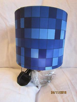 Blue Pixels Touch Lamp Table Bedside Kids Room Matches Minecraft Game Free Post