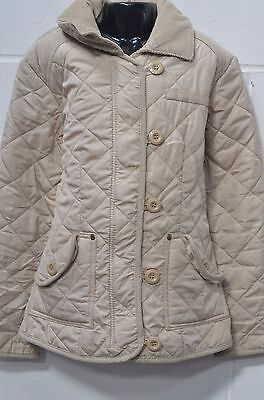 Girls Light Brown Quilted Look Jacket UK Age 9-10 Years (140cm) from Next