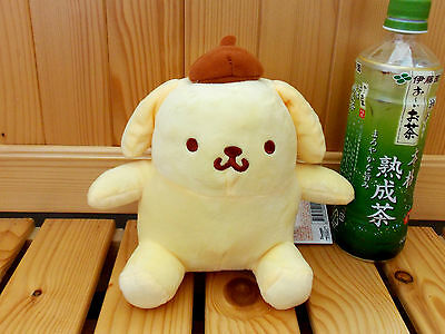 """NEW Sanrio Pom Pom Purin Polyester Plush 6"""" Doll Yellow Color"""