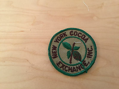 new york cocoa exchange  inc, patch, new old stock, 60's