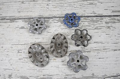 6 Vintage Water Valve Faucet Handles Knobs Steampunk  #2