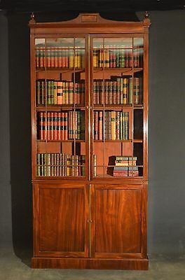 Superb Quality Regency Mahogany Bookcase