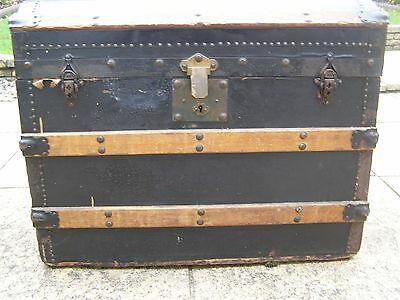 Vintage antique? Domed Shabby Chic  Travel Chest.