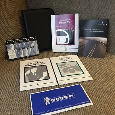 2001 Lincoln Town Car OEM Owners Manual set with service guide and case