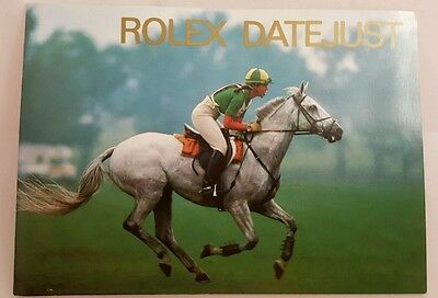 Vintage Rolex Datejust 1990's Instruction Manual Book New Old Stock Jockey Cover
