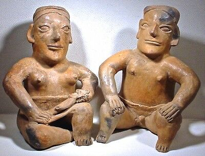Pre-Columbian Jalisco Couple & Baby Ex Sothebys