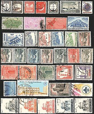 Pakistan Clearance - 43 Used Stamps All Different