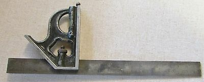 Vintage Fitchburg Tool Co. USA Combination Square With Scratch Awl & Bubble