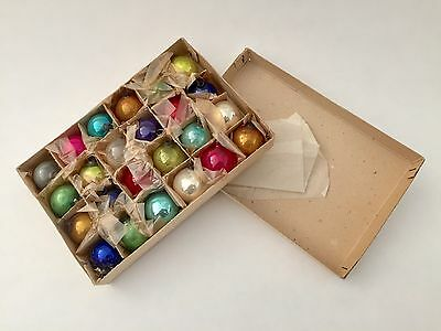 Vintage 1940s/50s MERCURY GLASS MINIATURE FEATHERWEIGHT Christmas Ornaments NOS