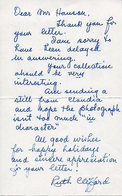 Ruth Clifford Silent Movie In The Phantom Of The Opera Signed Letter Autograph