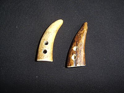 50-60mm Real Stag Horn Toggles Buttons set of 2