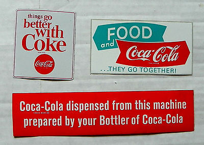 (Lot Of 3) The Coca-Cola Company Different Decals