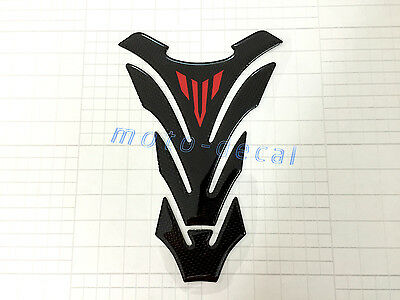 New Real Carbon Firber Yamaha MT-09 MT-07 MT-03 MT-01 Red Fuel Tank Pad Decal
