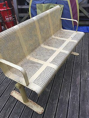 antique metal garden bench seating furniture shabby vintage chic patio