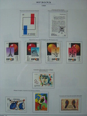 Spagna 1989-1990 Annate Complete Nuove ** Mnh Val. Cat. € 68,00
