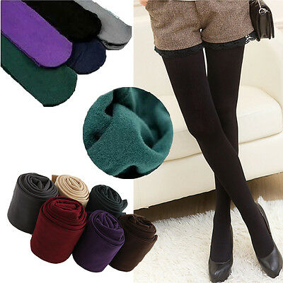 Women Girls Solid Color Warm Thick Tights Pantyhose Stockings Hosiery One Size