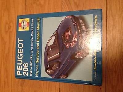 Haynes Manual Peugeot 206 All Models Petrol Diesel 1998 - 2001 ^
